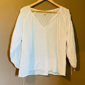 O'Neill sheer blouse with tie sleeves